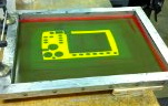 screen printing molded silicone